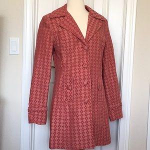 Stylish Trench coat pattern orange brick red rust
